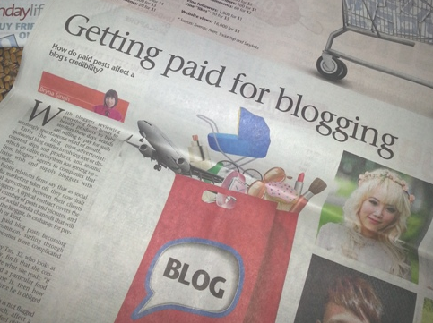 Featured in The Sunday Times – Getting Paid For Blogging