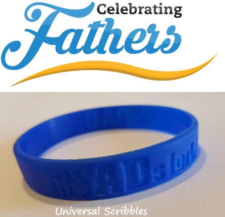 Celebrating Fathers.Wristbandpng