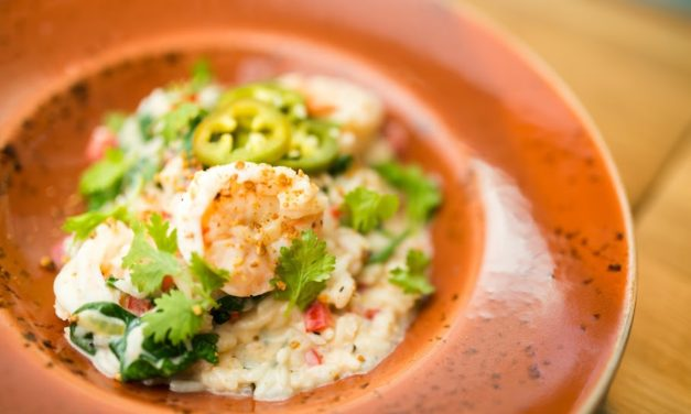 Shrimp & Coconut Risotto With Pickled Jalapeno  – INSPIRED BY ANNA OLSON
