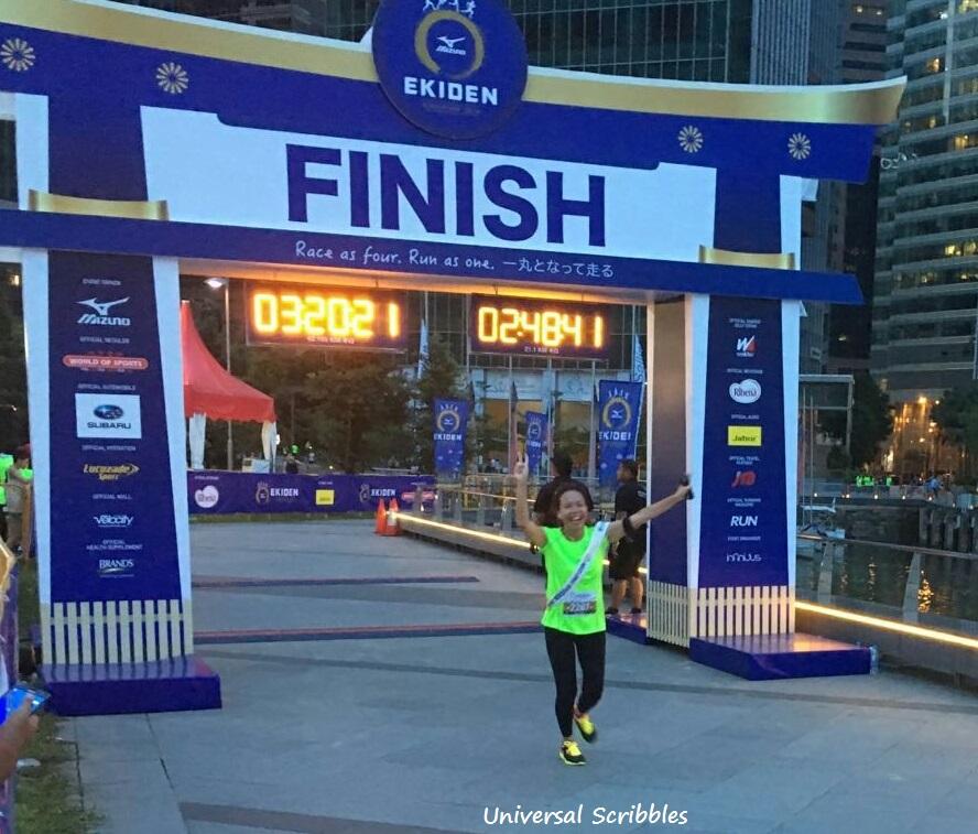 My First 21km Finisher Medal As A Racy Mama – Mizuno Ekiden Run